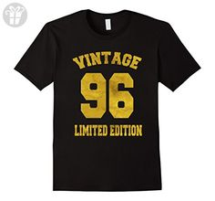 Mens Vintage 1996 Limited Edition T-Shirt 21st Birthday Gift Tee Medium Black - Birthday shirts (*Amazon Partner-Link)