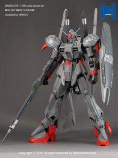 RE/100 Gundam MK-III modeled by HANCO. Full Photoreview