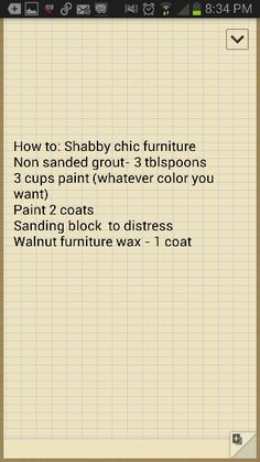 How to Shabby Chic furniture