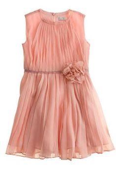 J. Crew Girls Chiffon Rosette dress - also in ivory $228
