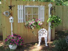 fence post plant hanger #whimsicalgardenideas