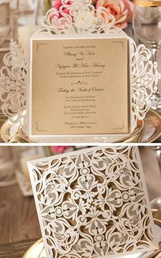Laser Cut Invitations Cards | Inexpensive Wedding Invitations On A Budget |  Laser Cut Wedding Invitations Elegant | Classy Wedding Invitations 2 Do ...