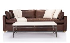 Coco Republic Stratten Slope Arm - Leather