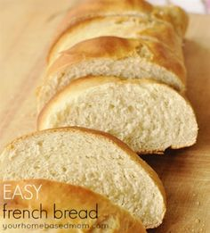 Easy French Bread-best ever! Used half whole wheat and half white flour. Very good!! Add extra salt next time.