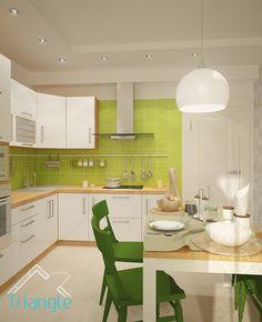 Квартира в Скандинавском стиле. Кухня
