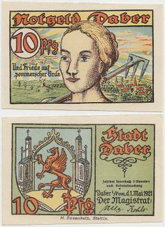 Notgeld (paper money), Daber 1921