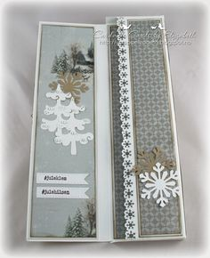 Cardville- Cards by Elizabeth: DT Bikuben: Sjokoladekort til jul Christmas And New Year, All Things Christmas, Christmas Crafts, Diy And Crafts, Paper Crafts, Cake Pictures, New Year Card, Fall Cards, Card Tags