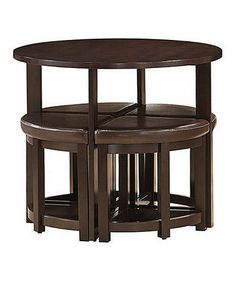 Love this Dark Brown Rochester Modern Bar Table Set on #zulily! #zulilyfinds