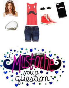 """""""Mustaches"""" by chocolate356 ❤ liked on Polyvore"""