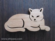 Sculpture en bois Chat 8 en chantournage