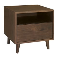 John Rocha Walnut finished 'Eclipse' side table with single drawer Walnut Veneer, Walnut Finish, Furniture Sale, Furniture Collection, Natural Texture, Contemporary Style, Modern, Minimalist Design, Drawers