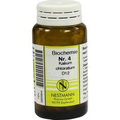 BIOCHEMIE 4 Kalium chloratum D 12 Tabletten:   Packungsinhalt: 100 St Tabletten PZN: 05955844 Hersteller: NESTMANN Pharma GmbH Preis:…