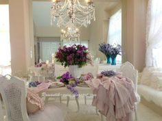 The chandelier tops all the romance!