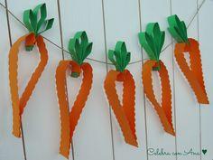 Guirnalda de Zanahorias para Pascua- Manualidades con Niños