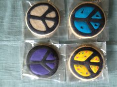 Peace Sign Cookies by Carmen