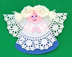 Simple and charming, the Cardstock and Doily Angel is inexpensively fun and easy.