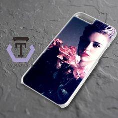 Miley Cyrus Pink Flower Rose iPhone 6 Plus|iPhone 6S Plus Black Case