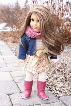 Cute AG style on Rebecca custom doll by Clarisse's Closet