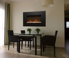 electric-wall-mounted-fireplace-diningroom