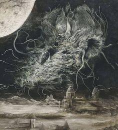 I can see the moon — ritualcircle:   Santiago CARUSO - Azathoth