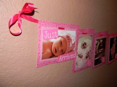 FIrst Birthday Picture Banner by CreationsByCrys on Etsy, $20.00