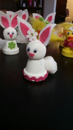 Clay bunnies and chicks