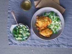 Wiener Schnitzel, Palak Paneer, Friends, Ethnic Recipes, Food, Cucumber Salad, Easy Meals, Food Food, Recipes