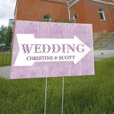 Pointing Arrow Wedding Directional Sign - ON SALE at The Wedding Shoppe Canada