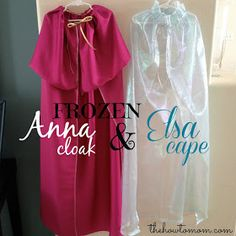 The How To Mom: FROZEN Elsa Cape and Anna Cloak DIY Tutorial more realistic for my skills. :)
