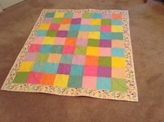 Baby Quilt by mommomsquilts on Etsy