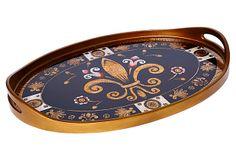 "24"" Oval Glass Tray, Michele on OneKingsLane.com"