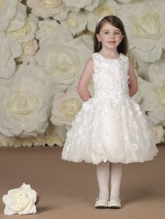 f8a77940716 Custom Made A-line Flower Girl Dress Jewel Appliques Butterfly SatinTea  Length