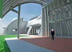 michael jantzen's prefabricated modular housing system Arch Building, Building Systems, Building A House, Build House, Quonset Hut Homes, Modular Housing, Low Cost Housing, Homestead House, Agricultural Buildings