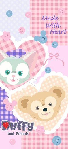 Bear Wallpaper, Kawaii Wallpaper, Disney Wallpaper, Iphone Wallpaper, Disney Parks, Walt Disney, Duffy The Disney Bear, Pooh Bear, Cute Cartoon Wallpapers