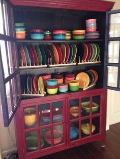 Image result for fiestaware hutch