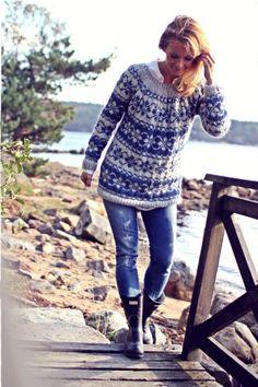 """Ihana villapaita! """"Ohje""""  http://www.menaiset.fi/artikkeli/blogit/kalastajan_vaimo/ikivanha_norjalainen"""