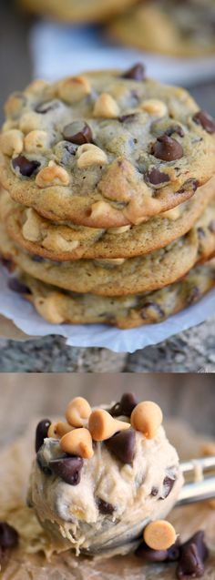 These Peanut Butter Banana Chocolate Chip Cookies from Mom on Timeout are way more fun than banana bread and so delicious! They are super soft and absolutely amazing!