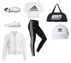 """""""Untitled #59"""" by lamijaa14 ❤ liked on Polyvore featuring adidas Originals, Topshop, NIKE, adidas, Converse and Object Collectors Item"""