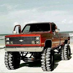 Custom Lifted Trucks, Lifted Chevy Trucks, Gmc Trucks, Cool Trucks, Jacked Up Chevy, Truck Drivers, Vintage Chevy Trucks, Chevy Diesel Trucks, Chevy Pickup Trucks