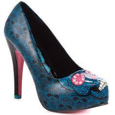 Savage Skull Heel - Turquoise - My collection from top #designers