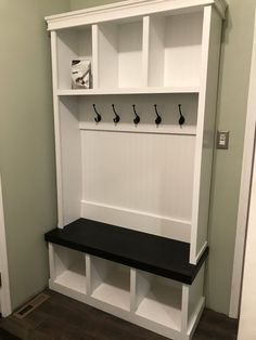 Home Design Try It For Yourself Entryway bench//organization/mudroom/hall tree/ Coat And Shoe Storage, Entryway Shoe Storage, Entryway Closet, Open Entryway, Small Entryway Bench, Entry Bench, Entryway Hall Tree, Entryway Decor, Entryway Ideas