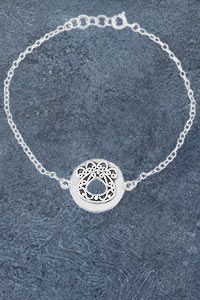 Paw Print Arabesque Sterling Bracelet at The Animal Rescue Site
