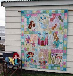 mermaid quilt fabric - Bing Images