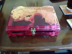 Custom made jewelry boxes... hit me up if you like