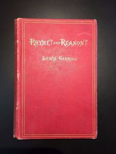 Rhyme and Reason  by Lewis Carroll  Illustrated by Arthur B. Frost & Henry Holiday  - • -  65 Illustrations by Arthur B. Frost  9 Illustrations by Henry Holiday  FIRST AMERICAN EDITION  - • -  Publisher: Macmillan and Co., New York  Copyright: 1884  - • -  Condition: This book is in good condition. Hardcover. Sound copy. Original red cloth with gilt titles. Boards are worn along edges and corners. Cloth slightly buckled in rear. Binding and hinges are tight. Ink inscription dated 1883 on ...