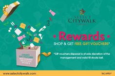 Select Citywalk mall is one of the best shopping mall in India it have branded products at good price and and now it is introducing rewards program. If you want to get more details please checkout select citywalk site.