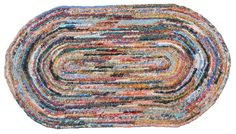"Scrappy Cotton Crocheted Oval Rug 18"" x 32"". $79.99, via Etsy."