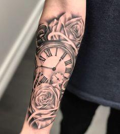 tattoos for men, wrist rose tattoo, wrist tattoo models, wrist covering tattoo - Tattoo-Designs - Tatouages Rose Tattoos For Men, Half Sleeve Tattoos For Guys, Trendy Tattoos, Black Tattoos, Black And Grey Rose Tattoo, Black And Grey Tattoos Sleeve, Cool Guy Tattoos, Cover Up Tattoos For Men, Large Tattoos