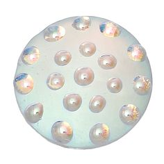"""Resin Embellishments Findings Round Silver Tone AB Color 25.0mm(1"""") Dia, 1 Piece new"""