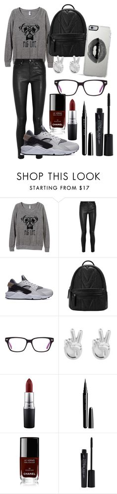 """Pugs "" by anouk488 ❤ liked on Polyvore featuring Helmut Lang, Rock 'N Rose, MAC Cosmetics, Marc Jacobs, Chanel, Smashbox and Lipsy"